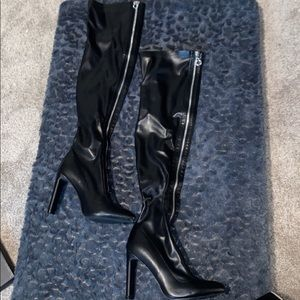 PLT ZIP UP THIGH HIGH BOOTS